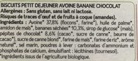 biscuit avoine banane chocolat - Ingrédients