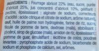 Moelleux Cœur Abricot - Ingrédients - fr