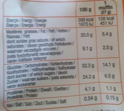 Moelleux Cœur Abricot - Informations nutritionnelles - fr