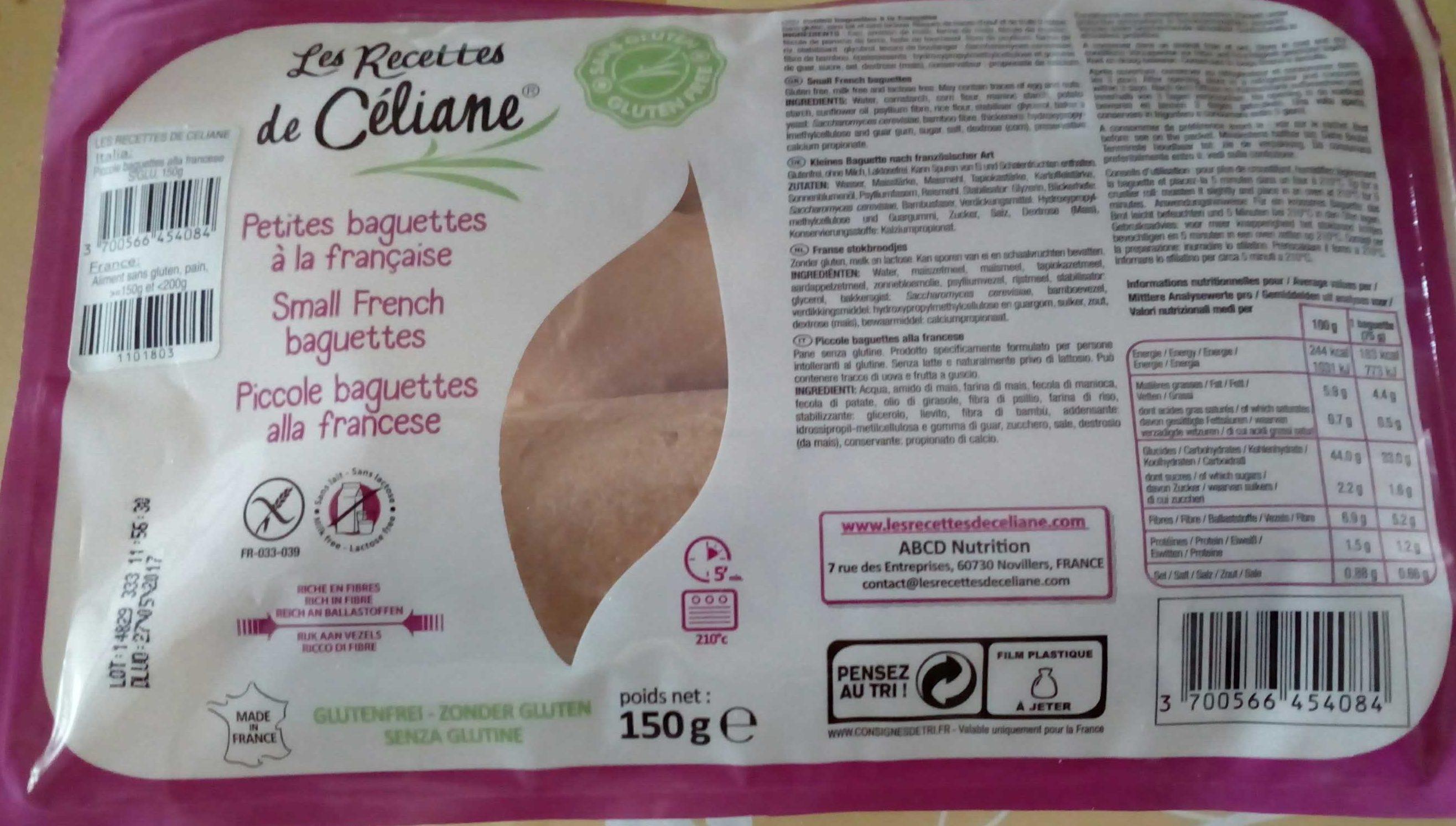 Petites baguettes - Produit