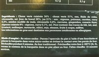 Filet de cabillaud à l'eau folle - Ingrédients - fr