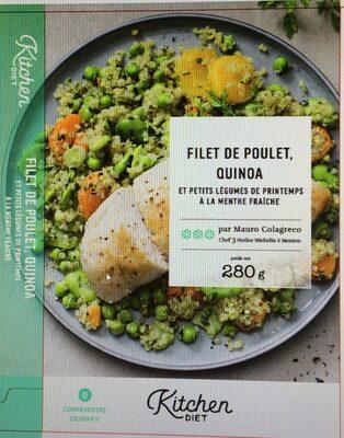 Filet de poulet, quinoa et petits légumes de printemps à la menthe fraîche - Produit - fr
