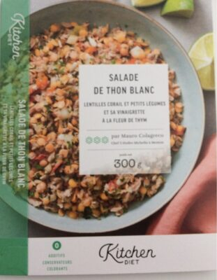 Salade de thon blanc, lentilles corail et petits légumes et sa vinaigrette à la fleur de thym - Produit - fr
