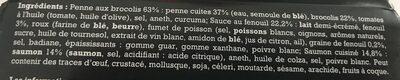 Penne au saumon - Ingrédients - fr