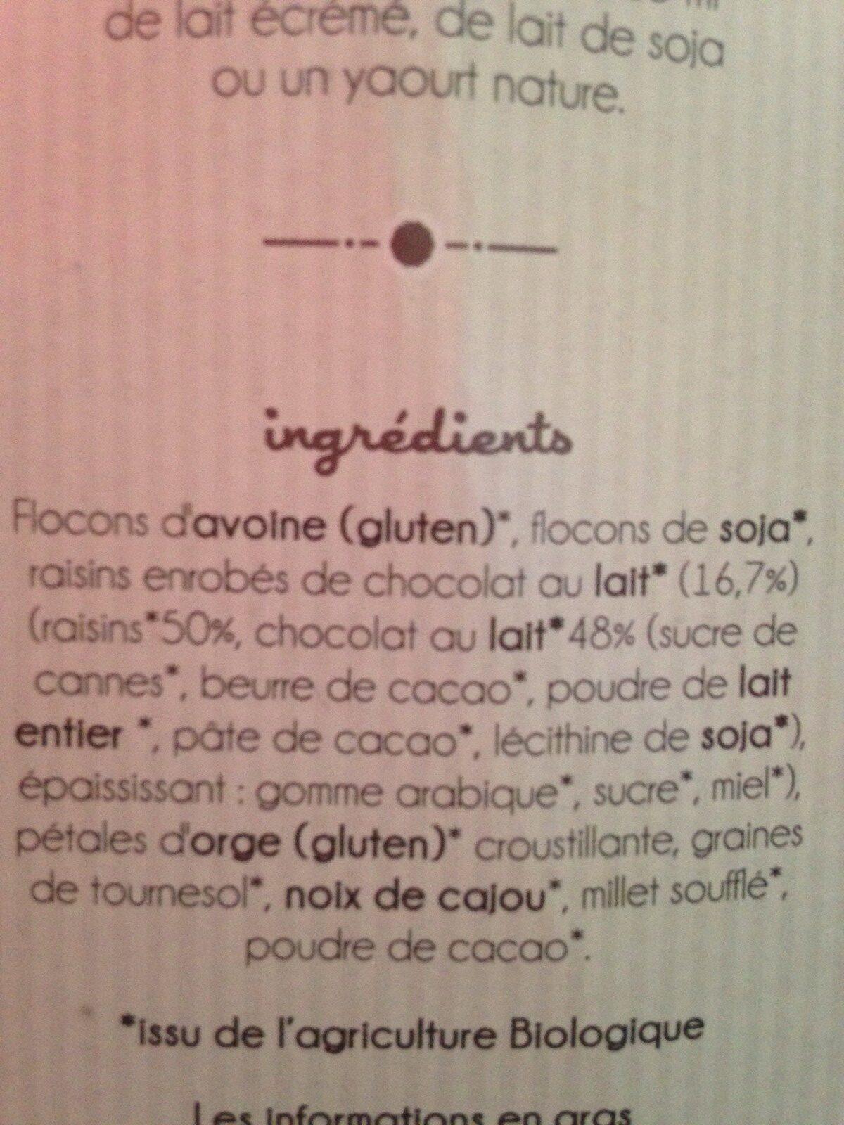 Mueslis - Ingrediënten