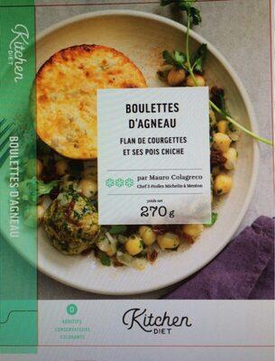 Boulettes d'agneau, flan de courgettes, pois chiches - Product
