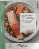 Dos de Saumon au Paprika, Duo de lentilles aux carottes et oignons - Produit - fr