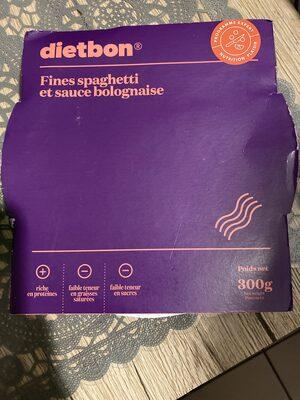 Fines Spaghetti et sa sauce bolognaise - Produit - fr