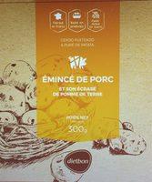 Emincé de porc, et son Ecrasé de pomme de terre - Produit - fr