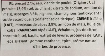 Risotto au poulet asperges et cepes - Ingredients - fr