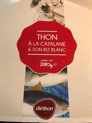 Thon à la Catalane et son riz blanc - Informations nutritionnelles - fr