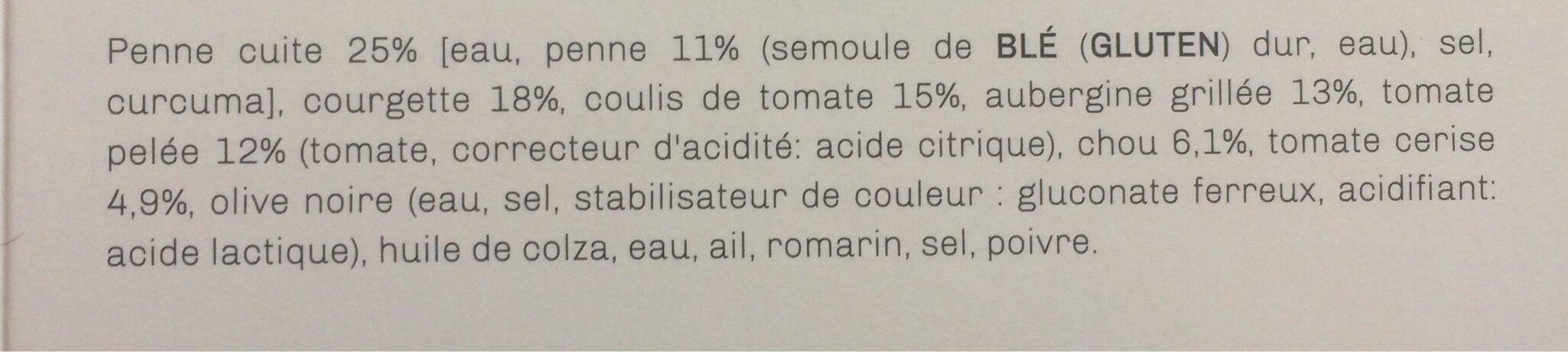 Penonni aux legumes de Provence et son coulis de tomates - Ingrédients - fr