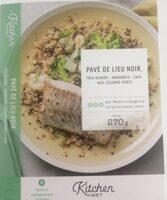 Pavé de lieu noir , trio quinoa - amarante - chia aux légumes verts - Produit - fr