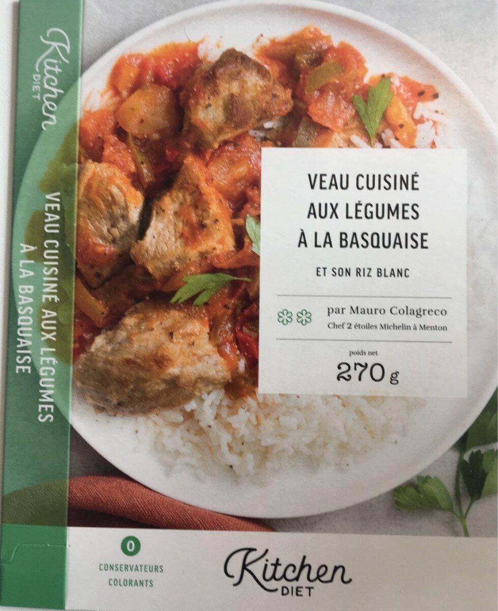 Veau aux légumes à la basquaise et son riz blanc - Produit
