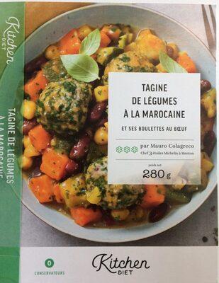 Tagine de légumes à la marocaine et ses boulettes au boeuf - Product