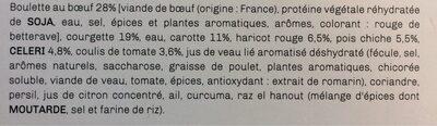Tagine de légumes à la marocaine et ses boulettes au boeuf - Ingrédients - fr