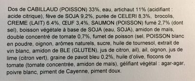 Dos de cabillaud creme de saulon fume - Ingredients