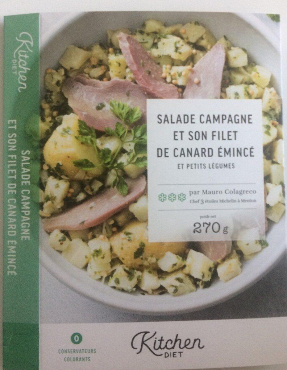 Salade Campagne et son filet de canard émincé et petits légumes - Produit - fr