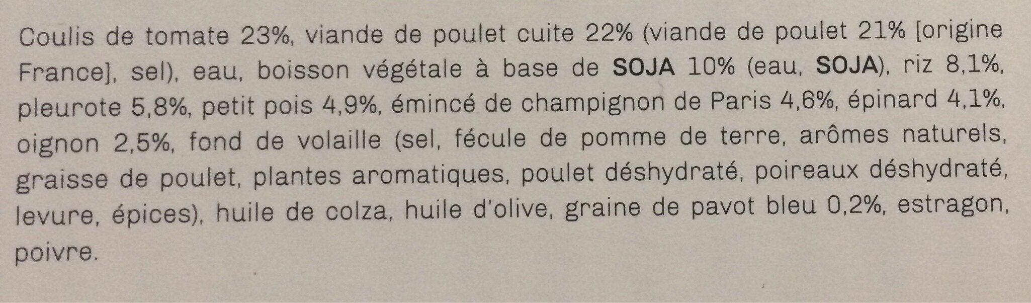Risotto forestier et poulet - Ingrédients - fr