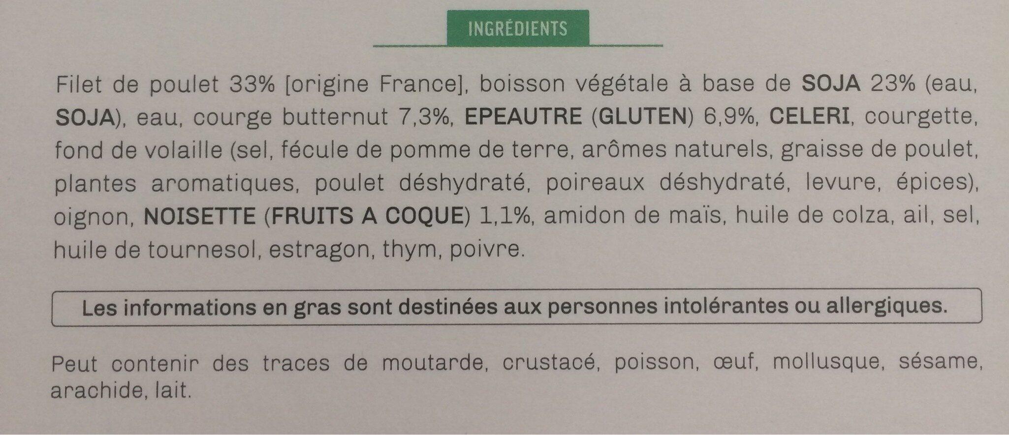 Risotto d'épeautre aux courgettes et butternut & filet de poulet aux noisettes torréfiées - Ingrédients - fr