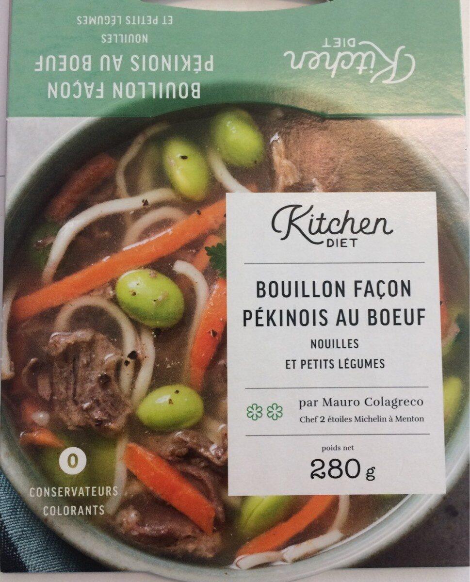 Bouillon façon Pékinois au boeuf, nouilles et petits légumes - Produit - fr