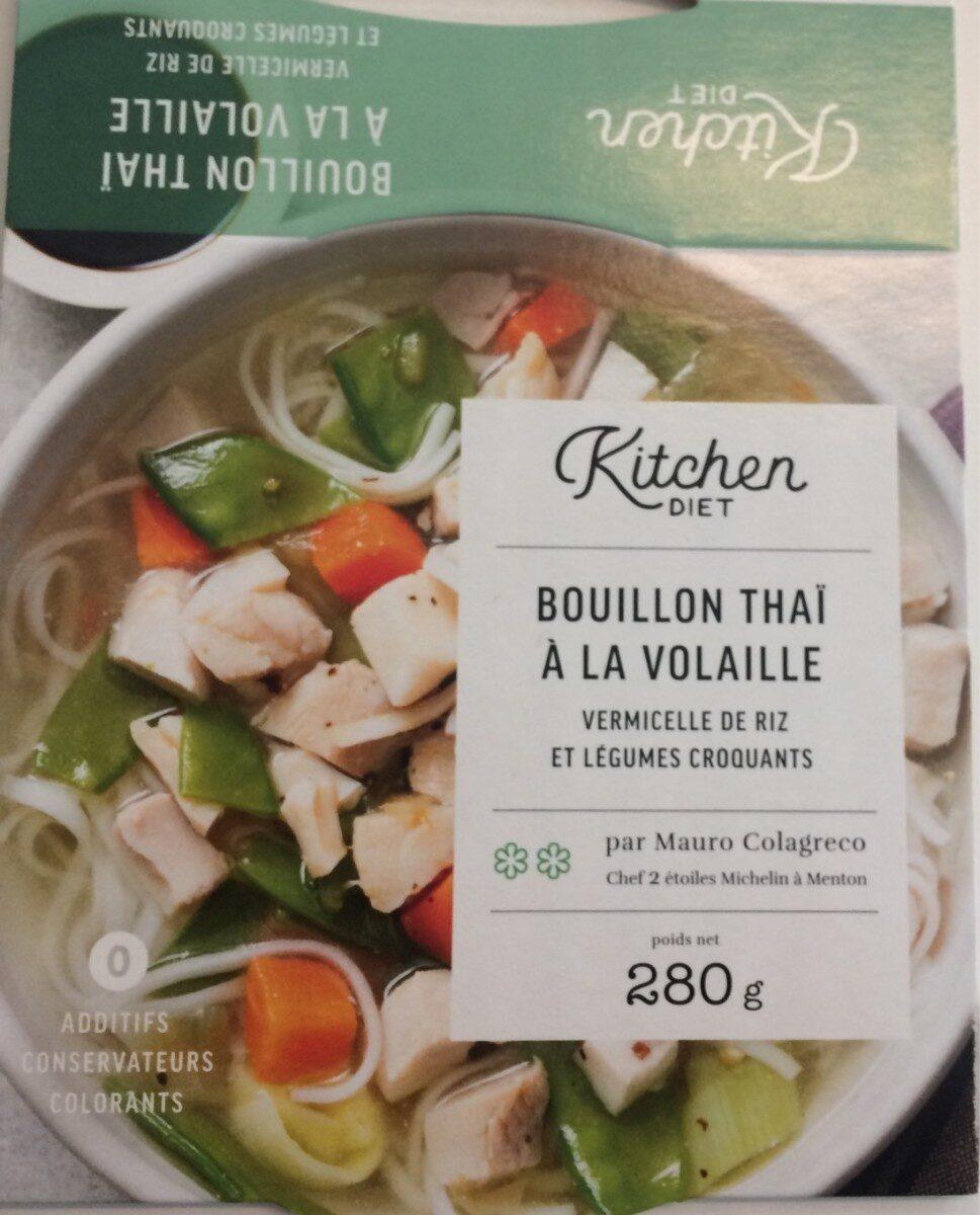 Bouillon Thaï à la volaille, vermicelle de riz et légumes croquants - Produit - fr