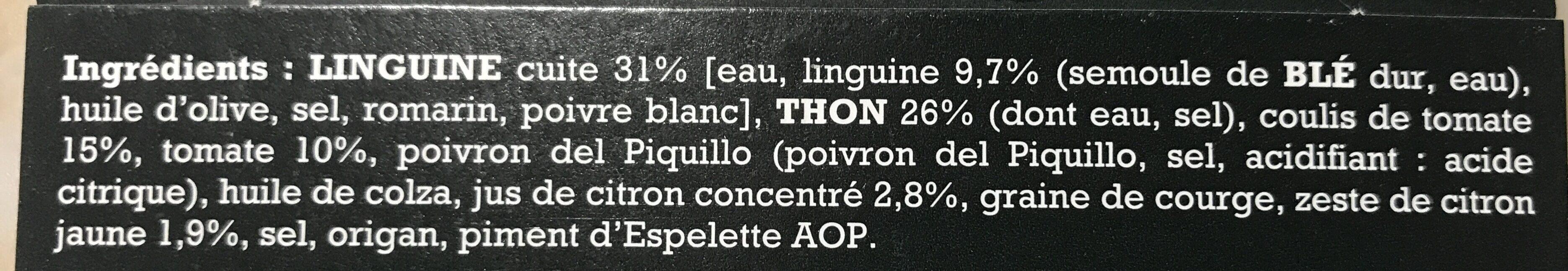 Linguine aux tomates et thon - Ingredients