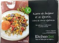 Risotto de Boulgour et ses Légumes, Crème de Chorizo Végétarien - Produit - fr