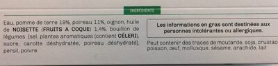 Soupe poireau pdt huile de noisette - Ingredients
