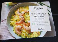 Crevettes sauce curry coco et riz aux legumes - Produit - fr