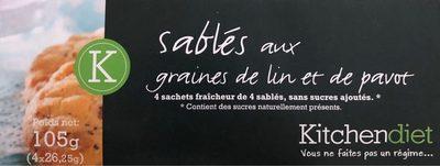 Petits sablés aux graines de Lin et de pavot - Produit - fr