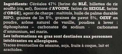 Petits sablés aux graines de Lin et de pavot - Ingrédients - fr
