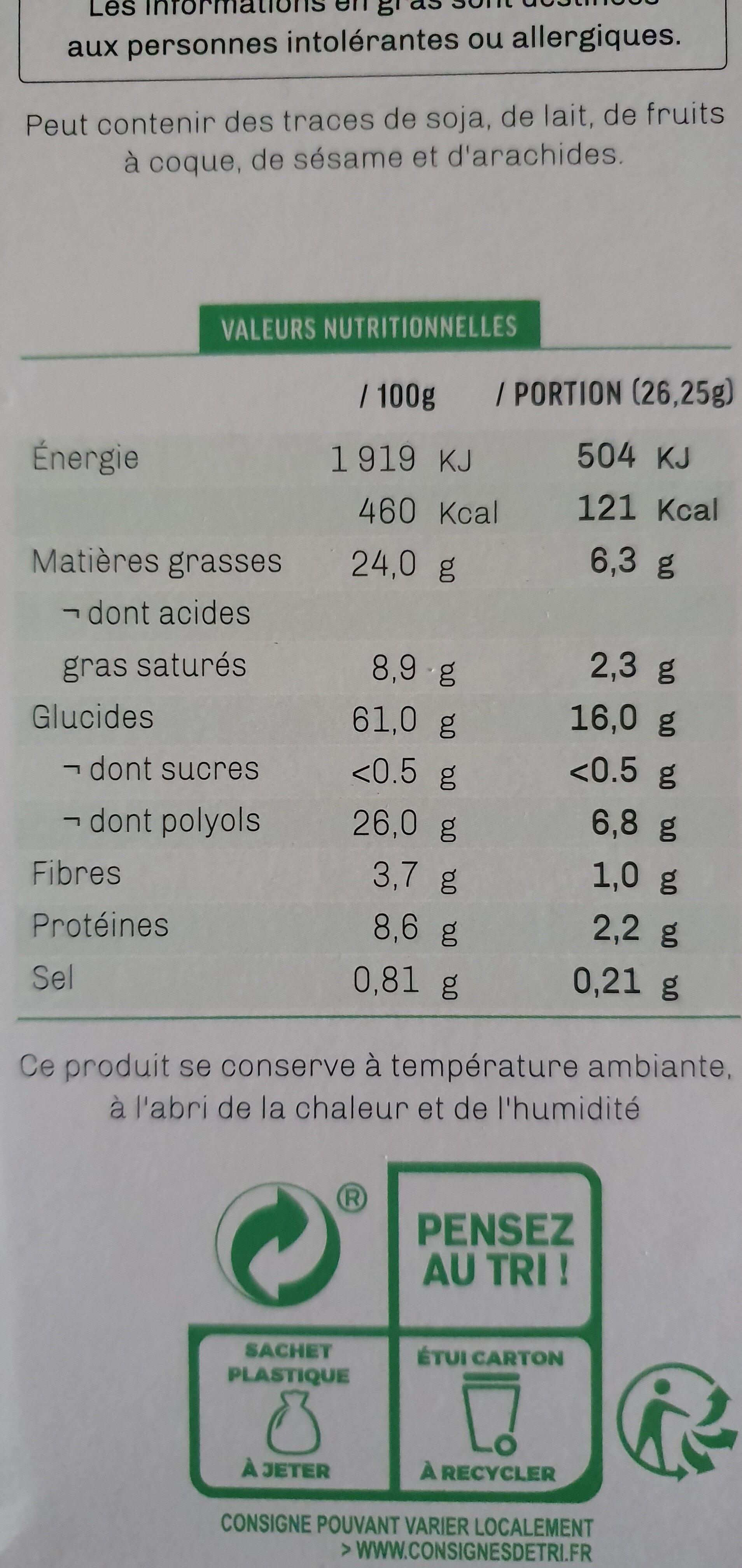 Petits sablés aux graines de Lin et de pavot - Informations nutritionnelles - fr
