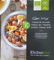 Glow Mix Bio Sans Gluten : Graines de tournesol, Raisins, Noisettes et Ananas - Produit - fr