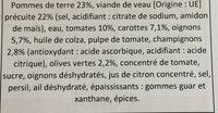 Veau sauce provencale et ses legumes - Ingredients - fr