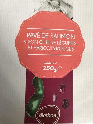 Pavé de Saumon et son Chili de légumes, et haricots rouges - Produit - fr