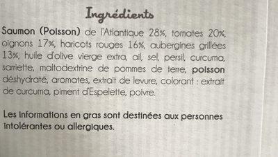 Pavé de Saumon et son Chili de légumes, et haricots rouges - Ingrédients - fr