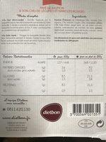 Pavé de Saumon et son Chili de légumes, et haricots rouges - Informations nutritionnelles - fr