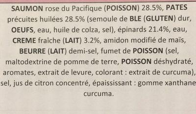 Conchiglie - Ingredients