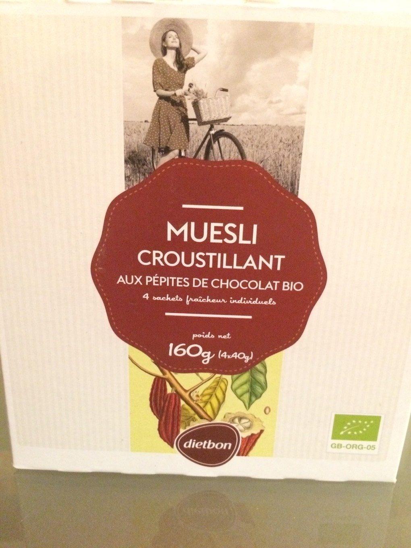 Muesli croustillant aux pépites de chocolat bio - Product