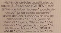 Muesli croustillant aux pépites de chocolat bio - Ingrediënten