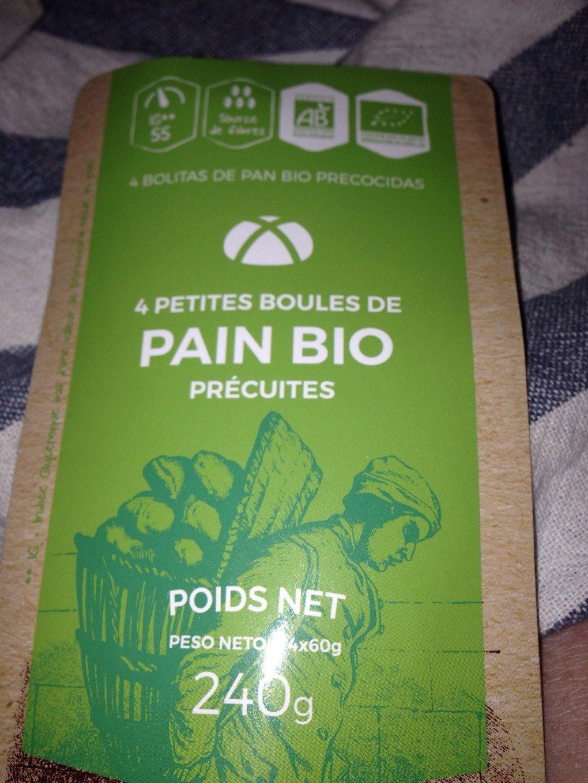 4 boules pain bio precuites - Product - fr