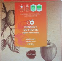 Dessert de fruits pomme abricot bio - Product