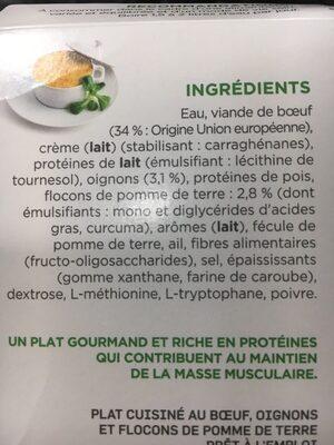 Insudiet Hachis Parmentier - Ingrédients - fr
