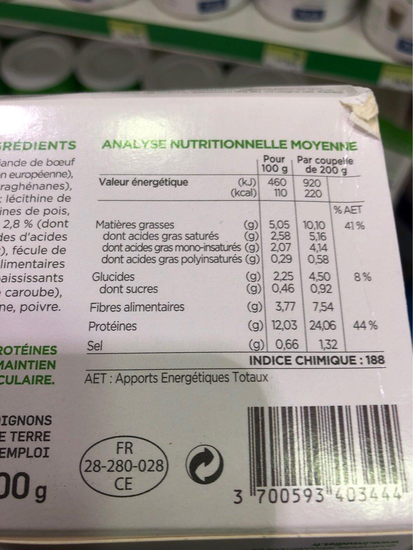 Insudiet Hachis Parmentier - Informations nutritionnelles - fr