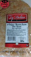 6 Crêpes Beurre-Sucre Pur Beurre aux œufs frais (+1 gratuite) - Produit