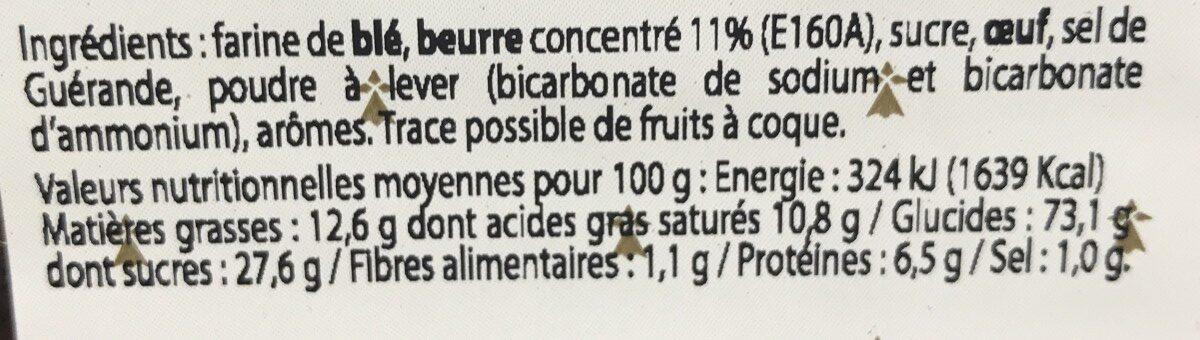 Petit beurre breton pur beurre - Ingrédients