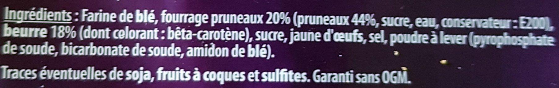 Gâteau Breton Crème de Pruneaux - Ingrédients