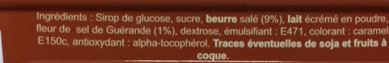 Caramels au beurre sale - Ingrediënten - fr