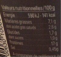 Daube à la Provençale - Informations nutritionnelles - fr